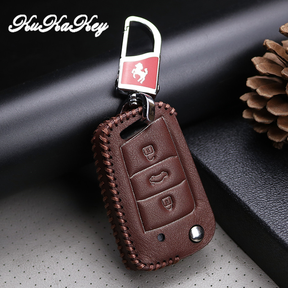 Car <font><b>Accessories</b></font> Key Case Cover Holder For Volkswagen <font><b>VW</b></font> <font><b>Golf</b></font> 4 <font><b>5</b></font> 6 7 MK7 <font><b>GTI</b></font> B5 B6 Jetta MK5 MK6 Touran Polo Tiguan 2009-2015 image