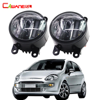 Cawanerl 2 Pieces Car Accessories Right Left Fog Light LED DRL Daytime Running Lamp For Fiat