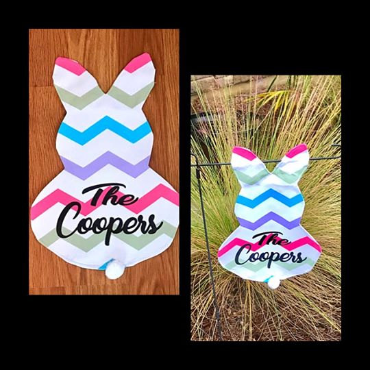 10pcs/lot Free Shipping New Arrival Chevron Easter Garden Flag Canvas  Material 12*18inch