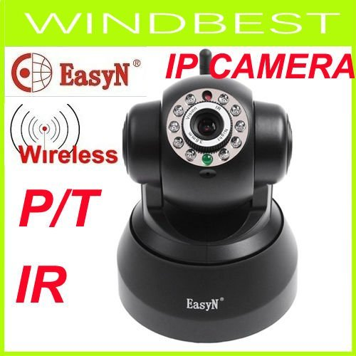 EasyN Wireless IP Camera webcam Web CCTV Camera Wifi Network IR NightVision P/T With Color BOX, freeshipping,dropshipping