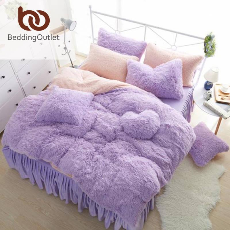 Beddingoutlet violeta juego de cama caliente y suave textiles para el hogar para