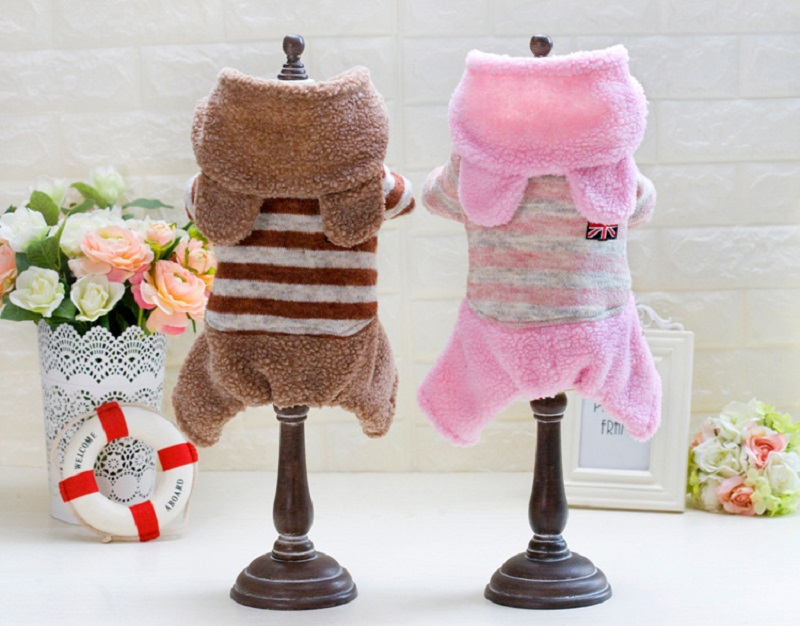 Cute Winter Pet Clothes Keep Warm Dog Clothing Puppy Dog Knit Sweaters Hooded Bear Desig ...