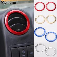 цена на For Suzuki Jimny 2007 To 2015 Car Air Conditioning Vent Cover Aluminium Decoration Trim Round Sticker Interior Accessories 2pcs