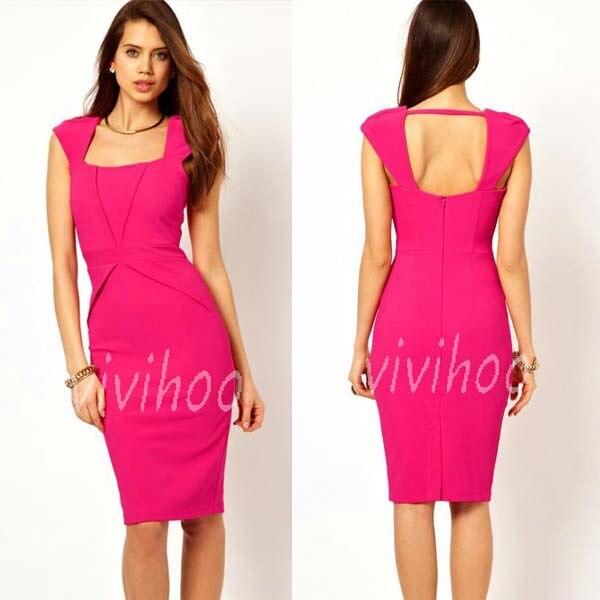 21df79ff8a9d2 Benzersiz tasarım kare boyun elbise bayanlar ofis çalışma kılıf kalem elbise  seksi Hollow-out Casual Bodycon zarif parti resmi elbise