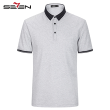 Seven7 Summer Short Sleeve Shirts Casual Short Sleeve Cotton Polo Shirts Solid Color Shirt Collar Youth Polo Shirts 112T50020
