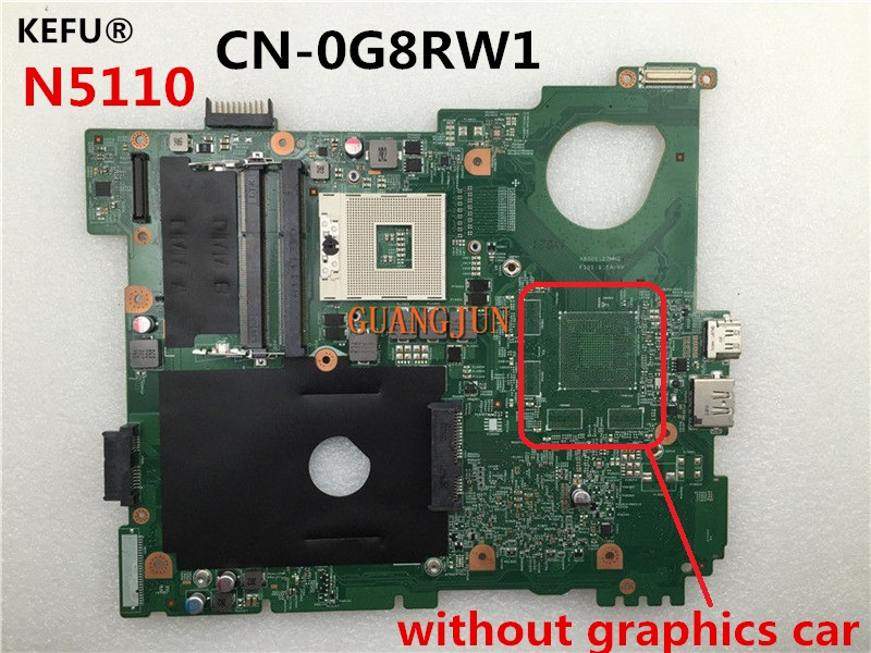 KEFU Free Shipping For Dell N5110 Laptop Motherboard CN-0G8RW1 0G8RW1 G8RW1 100%Tested