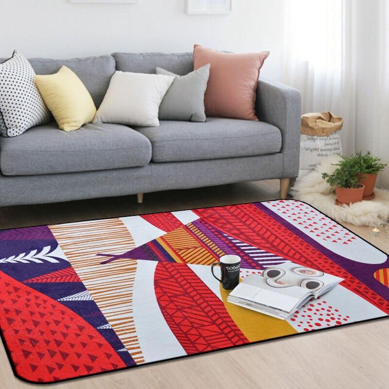 Personnalité pastorale tapis mosaïque chambre d'enfants tapis rose salon chambre chevet tapis table basse tapis de sol bébé maison tapete - 4