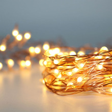 3M 5M Warm White AA battery operate micro copper silver wire fairy Starry Christmas holiday wedding invisible rice string lights