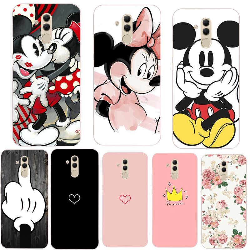 Soft TPU Cute Cats Flowers Pattern Case For Huawei P20 P30 Pro Mate 10 20 Lite P Smart 2019 Silicone Protective Cover Housing