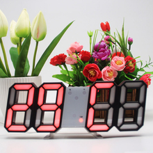 Digital LED Alarm Clock Timepiece Prompt Remind Mirror Surface Multicolo Multi-Functional Automatic Time