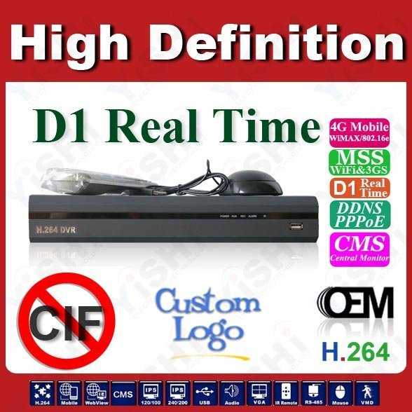 4CH High-End D1 Real Time 3G Standalone DVR, FULL D1 DVR