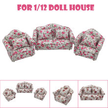 Kunstmatige Meubels Mini Poppenhuis Meubels Sofa Set Miniatuur Woonkamer Kids Pretend Play Toy A515(China)