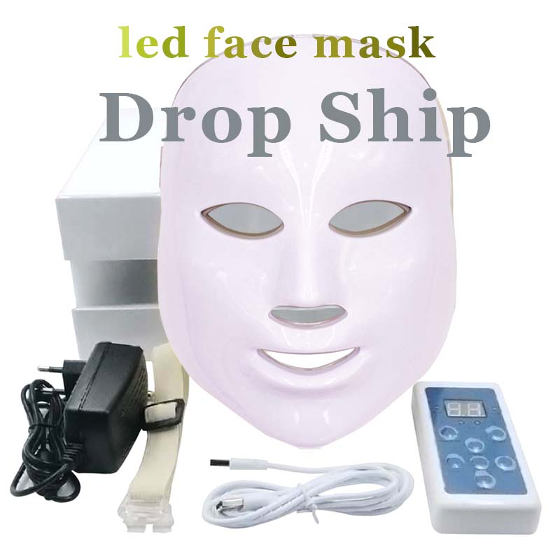 цена Beauty Instrument 7 colors Blue light Photo therapy Led Facial Mask Skin Face Anti-aging Acne Freckles Wrinkles Removal Machine