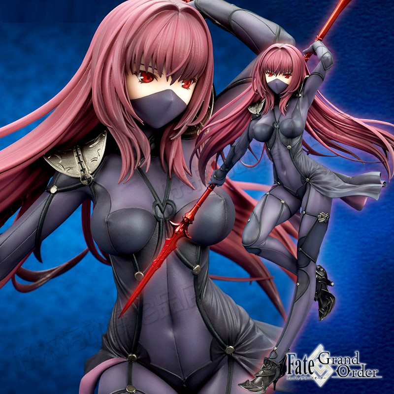 27cm Fate Stay Night Action Figures Fate Grand Order Servant Scathach Lancer masked ver Figure Toy