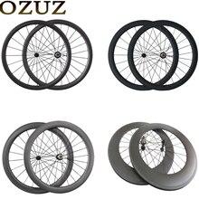 OZUZ 1080g 700C Ultra Light Carbon Dreht 24mm 38mm 50mm 60mm 88mm Carbonklammer Schlauchreifen Rennrad Fahrrad Räder