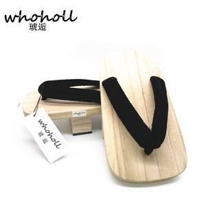Image 3 - WHOHOLL One Piece Sanji kimono Cosplay Costume man geta slippers Japanese Wooden clogs Flip flops Man Sandals