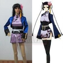Nueva Negro Mayordomo Kuroshitsuji Ran mao Gato Azul Cheongsam mujer Anime Cosplay vestido de Traje