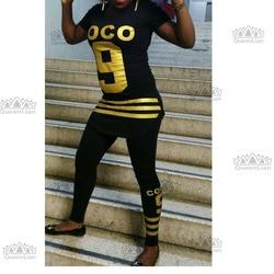 2017 neue Mode Afrikanische Druck Große elastische Bazin Rock Stil Dashiki Sexy Sport Anzug Für (9TZ # HEI)