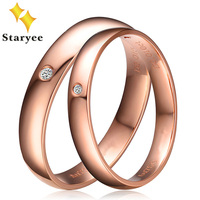 Real 18K Solid Rose Gold Engagement Ring 0.02ct SI H Round Brilliant Natural Diamond Gold Rings for Women Wedding Band Jewelry