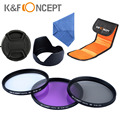 Cámara tapa del parasol 58mm lente kit filtro uv cpl fld para canon eos 1100d 1000d 500d