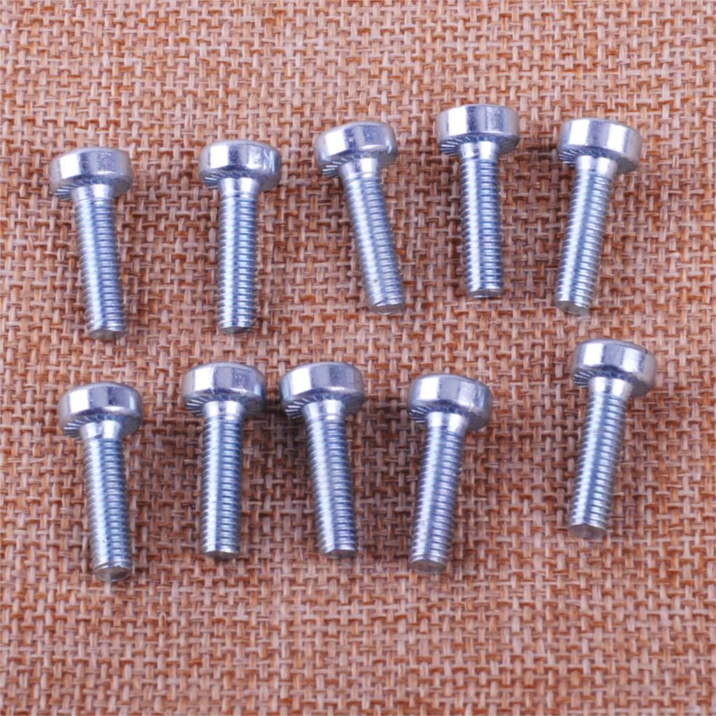 LETAOSK 10pcs Silver Torx Spline Screw Bolt T27 5mmx18mm M5X18 Fit For STIHL Chainsaw 9022 340 1010