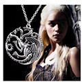 Presente do Dia dos namorados A Song Of Ice And Fire Game Of Thrones Daenerys Targaryen Dragão Emblema 56 cm Cadeia colar 0082