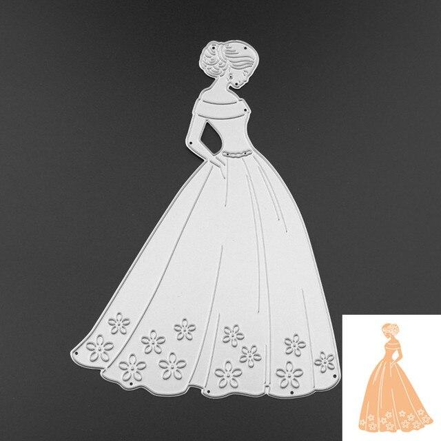 New Dress Girl Embossing Metal Steel Cutting Dies Stencils DIY ...