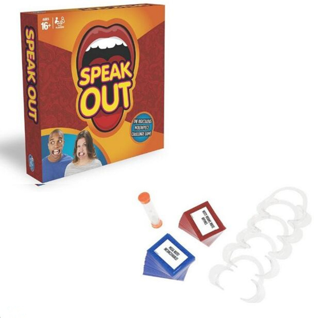 in stock !! 100pcs/ lot speak out game best selling board game interesting party game
