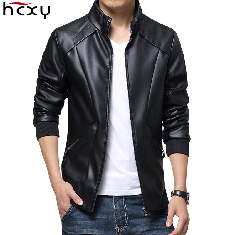 HCXY 2017 New Leather Jackets Men Autumn Winter Leather Clothing clothes Men Leather Jackets Male Business casual Coats