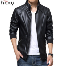 HCXY 2017 New Leather Jackets Men Autumn Winter Clothing clothes Male Business casual Coats