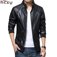 HCXY 2019 New Leather Jackets Men Autumn Winter Leather Clothing clothes Men Leather Jackets Male Business casual Coats