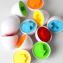 6pcs/lot Simulation Egg Puzzle Clever Eggs Kid's Toy Gift Baby Children Games Learning Education Toys Designers children Laf_029