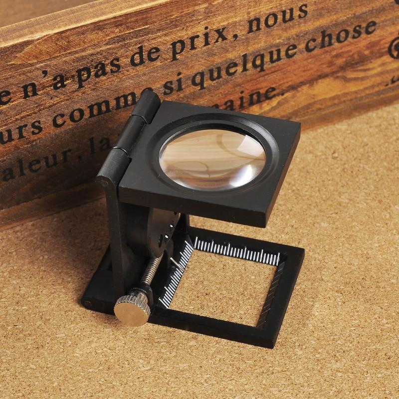 10x fém íróasztal 2 LED-es nagyító optikai lencsével fekete - Mérőműszerek - Fénykép 3