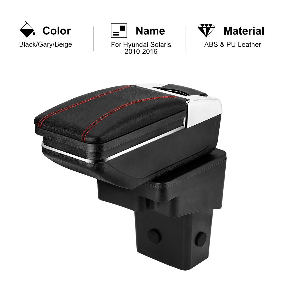 Armrest-Box Hyundai Solaris Car-Styling-Accessories Central for ABS Container