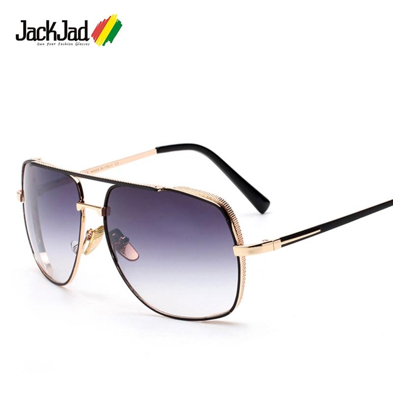 f4830e024c59c Jackjad 2017 nueva moda estilo aviador medianoche conducción especial Gafas  de sol hombres marca de diseño Sol Gafas oculos de sol Masculino