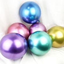 10PCS 12inch Silver Gold Metallic Latex Balloons Pearly Metal Balloon Colors Globos Wedding Birthday Party Supplies