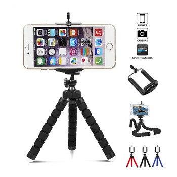 Elastyczny statyw Mini uniwersalny uchwyt na telefon komórkowy statyw Octopus obsługuje klip cyfrowy aparat do montażu na stojaku Monopod do telefonu