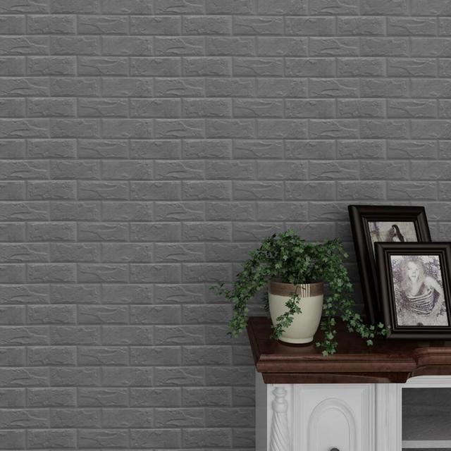 pe foam 3d wallpaper diy wall stickers wall decor embossed brick