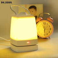 DE.SOUL Timed Night lamp for Baby Room Rechargeable emergency Portable Night Lights Bedside Warm White Cool White Light