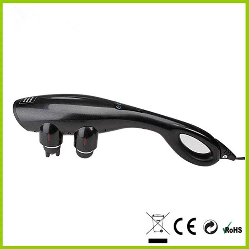 ФОТО Digital Infrared Heat Vibrating Handheld Massager With Hot Pack Four Head Neck Back Knock Massage Vibration Massage Stick