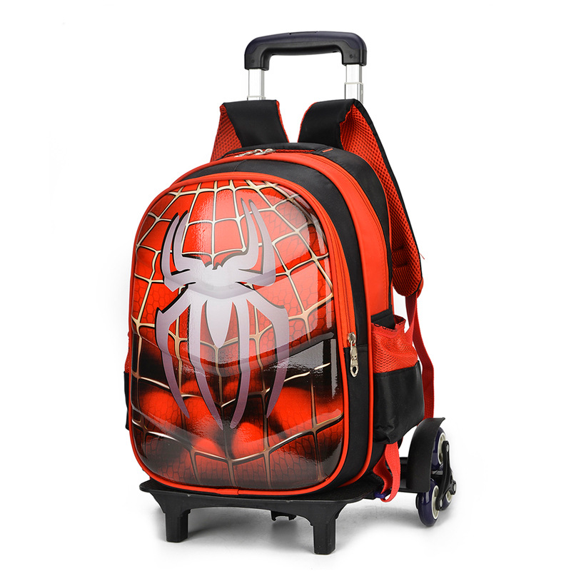 Spiderman 3D Anime travel luggage 20-35L students school bag Climb stairs suitcase Children cartoon backpack boy Stationery bag 2pcs set kids luggage child pencil case school bag students boy s girls climb stairs rolling suitcase children travel backpack