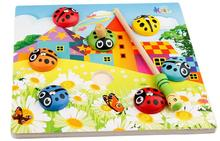 Exempt postage, fishing toys, magnetic beetle, educational parent-child toy, train babys hand-eye coordination