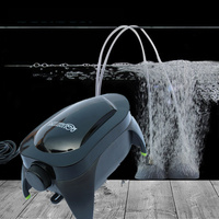 Sıcak Satış Sessiz Akvaryum Ayarlanabilir Oksijenizasyon Hava Pompası Artış Oksijen Balık Tankı Hava Akış Kontrolü Için Akvaryum Aksesuarları