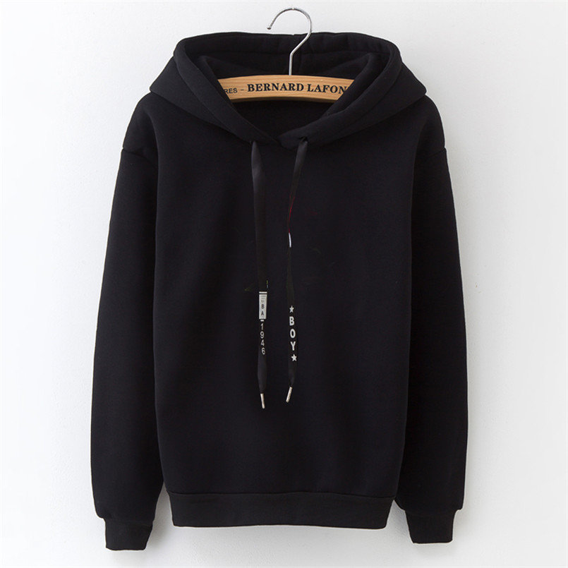 Winter New Korean Women's Hoodies Solid Color Drawstring Loose Long Sleeve Hoodie Casual Trendy Women's Hooded Tops
