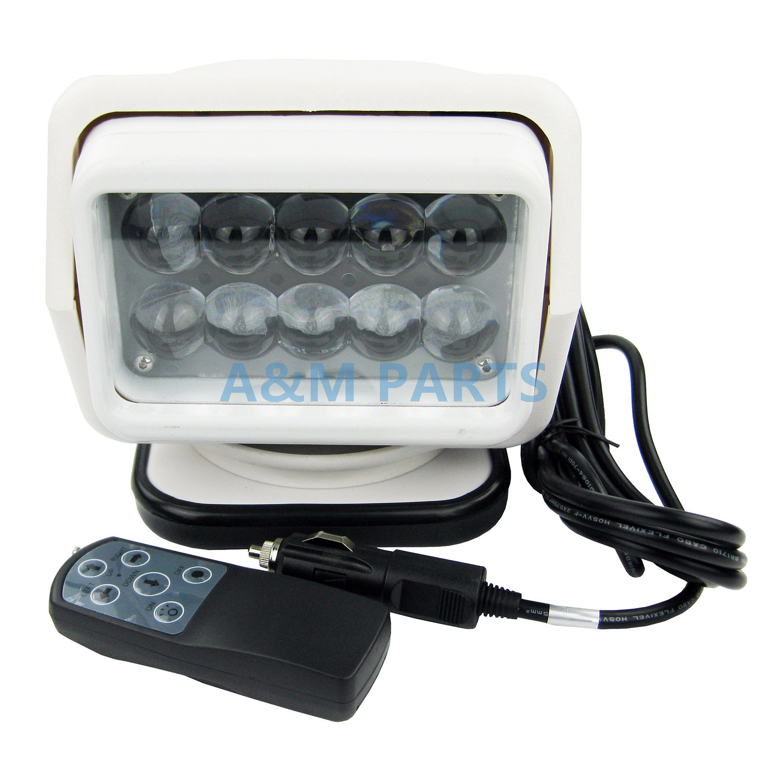 50W LED Remote Control Searchlight Truck Boat Car Marine Wireless Spotlight