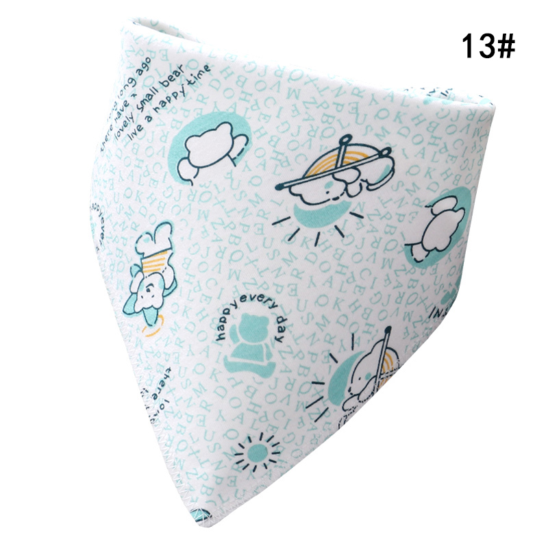 New Hot Breathable Double Snap Button Cotton Triangle Towel For 0~36 Months Babies