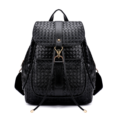 цена Female bag PU leather backpack The new fashion trend all woven students shoulder bag The large capacity backpack онлайн в 2017 году