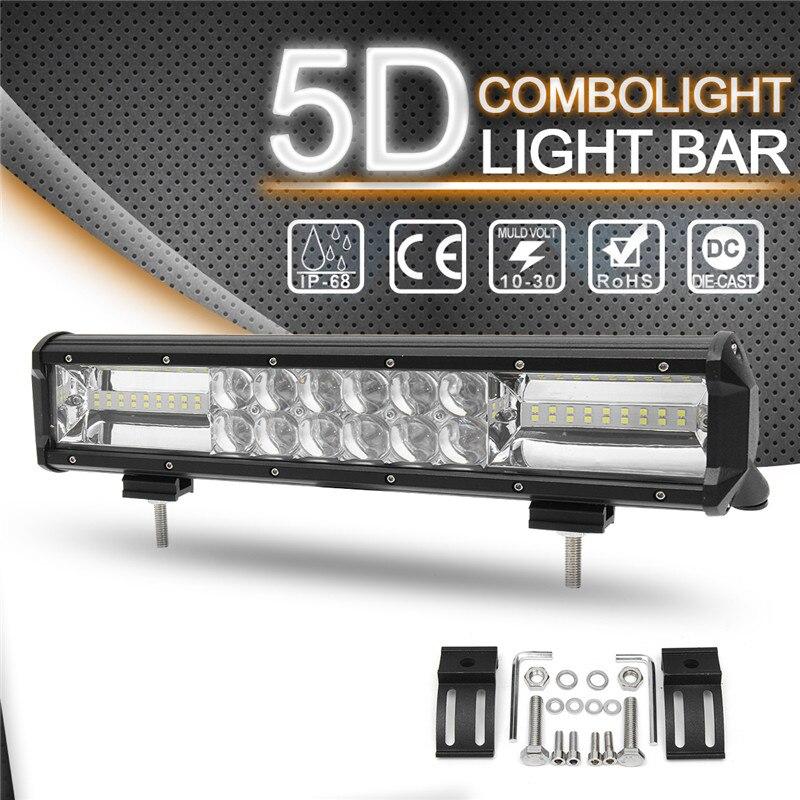 432 Вт 14 дюймов 5D бар свет работы НАВОДНЕНИЕ SPOT Combo светодиодный свет работы бар 6000 К Водонепроницаемый для внедорожник ATV автомобиля Грузовик...