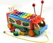 Новинка деревянные игрушки животные тракторы пианино детская