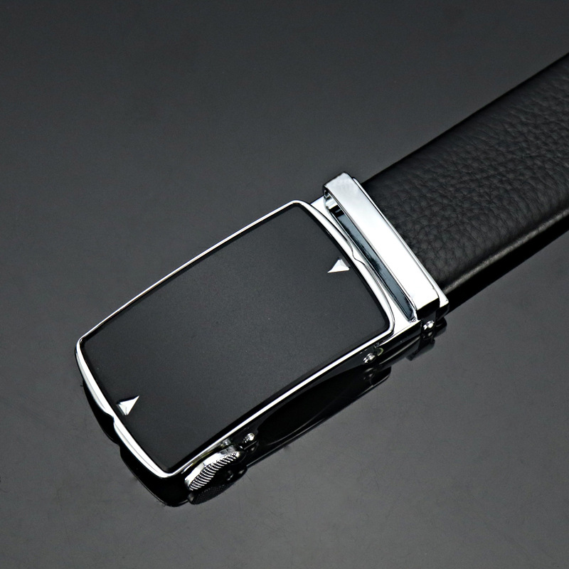 Business dress leather cowhide new simple luxury brand men 39 s leather business quality belt luxury high quality automatic buckle in Men 39 s Belts from Apparel Accessories
